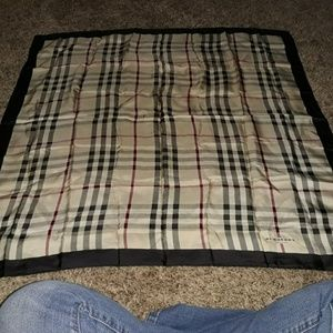 Silk scarf Burberry 33 by 32 authentic